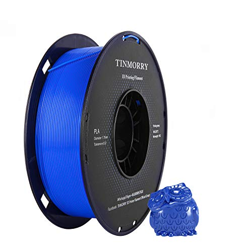 TINMORRY PLA Filament 1.75 mm 1kg, Tangle-Free 3D Printer Filament Royal Blue, Diameter Tolerance +/- 0.02 mm, Net Weight 1kg 1 Spool