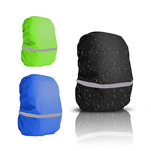 TAZEMAT 3 PCS Copertura Zaino Impermeabile Copertura Antipioggia Borse Panno Elastico Antipolvere Protezione Integrale Resistente Usura Campeggio attività Viaggio Accessori Sportivi