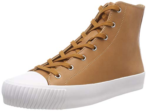 Jil Sander Navy Damen Sporty Hohe Sneaker, Braun (Noisette 504), 40 EU