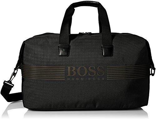 Hugo Boss Unisex-Erwachsene Pixel Nylon Weekender Bag Trainingstasche, schwarz, Einheitsgröße