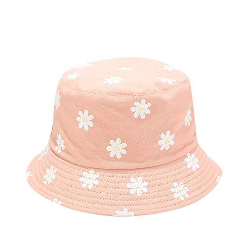 LIUBAOBEI Cubo Sombreros,Sombrero De Cubo De Verano Moda para Mujer Sombreros para El Sol De Playa Sombrero De Panamá Floral Sombrero De Pescador-Color: 4_56-58Cm