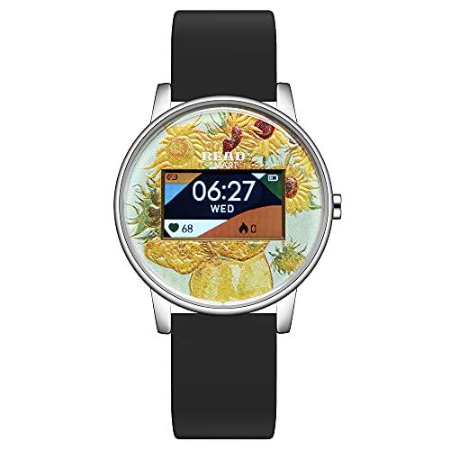 TEZER Reloj de Seguimiento de Fitness, smartwatch de Fitness Resistente al Agua para Mujeres, Reloj Digital con Seguimiento del Ritmo cardíaco, del sueño, de Las calorías y de los Pasos, smartwatch