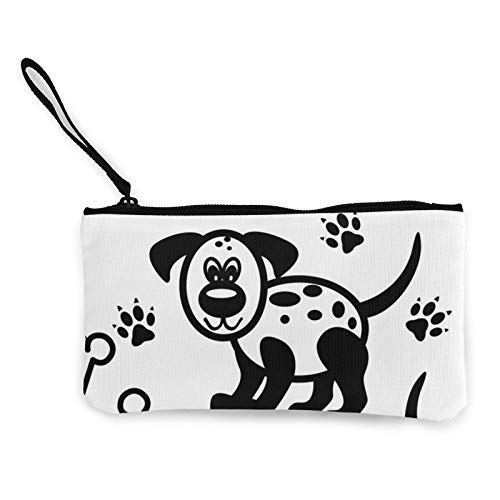 XCNGG Cute Cartoon Dog Fashion Coin Purse Bag Canvas Small Change Pouch Multi-Functional Cellphone Bag Wallet Cosmetic Makeup Bag
