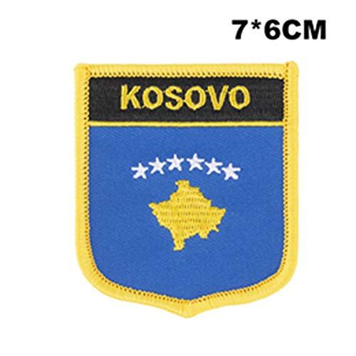 Soode KOSOVO Vlag borduurwerk patches ijzer op overdracht patches set naaien toepassingen voor kleding in Home&Garden PT0243-S