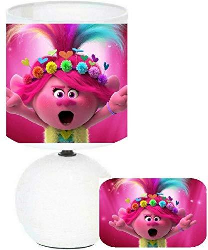 Lámpara de noche Trolls 2 Poppy – creación artesanal pegada imagen