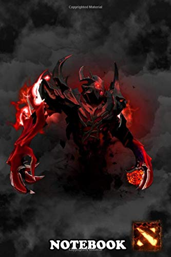 "Notebook: Dota Shadow Fiend Character , Journal for Writing, College Ruled Size 6"" x 9"", 110 Pages"