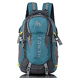 HEROZ Hammer Unisex Nylon 45 L Travel Laptop Backpack Water Resistant Slim Durable Fits Up to 17.3 Inch Laptop Notebook (All) (Grey & A. Blue 212),Heroz,057