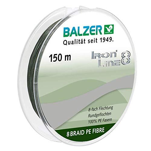 8-fach rundgeflochtene Schnur grün 0.12mm 150m