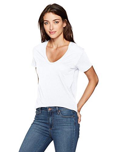 AG Adriano Goldschmied Damen Henson Tee T-Shirt, True White, Klein