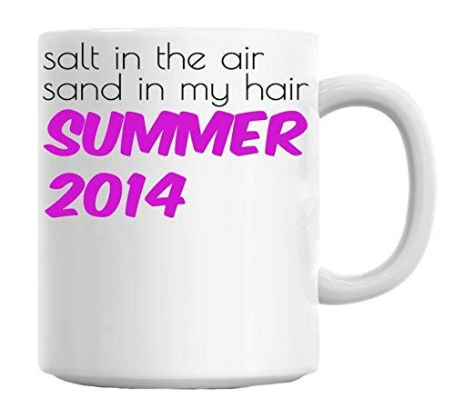 Thee Mok, Koffie Mok 11oz Grappige Koffie Mok Zout in De Lucht Zand in Mijn Haar Slogan Mok
