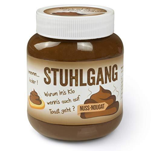 Stuhlgang Scherzartikel für Männer Extrem lustige Geschenke für Männer Nuss Nougat – Etikett mit witzigem Aufdruck – 400g Glas