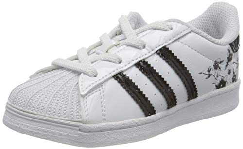 adidas Superstar El I, Scarpe da Ginnastica, Ftwr White/Core Black/Core Black, 25 EU