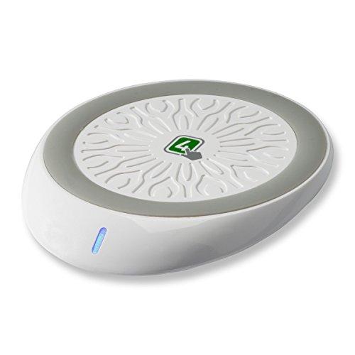 4smarts - 2charge - kabelloses Laden - Pad zum kabellosen Laden nach QI-Standard - Weiss/grau