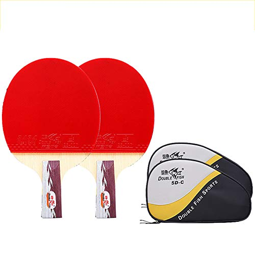 Best Bargain SSHHI Ping Pong Paddle,5 Stars,Suitable for Everyday Training,Offensive Table Tennis Pa...