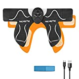 MOICO Butt Hip Trainer, 2021 Upgrade Muscle Toner Fitness Training Gear with 10 Pcs Free Gel Pads, Home Office Exercise Equipment, Ab Trainer Workout Equipment Electric Machine for Women Men Mom