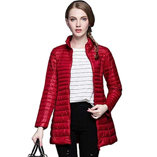 Modern damestand kraag winterlicht en warm donsjack, winddicht waterdicht ski-jack