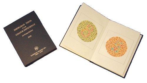 Ishihara - Libros de tabla de pruebas para deficiencia de color por Ishihara para persona sin letras