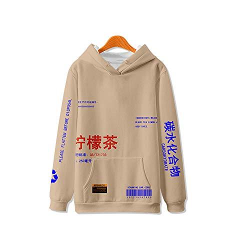 Hoodies Citroen Thee Gedrukte Pullover Hoodies Mannen/Vrouwen Casual Hooded Streetwear Sweatshirts Hip Hop Harajuku