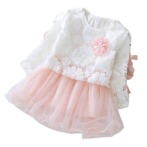 Yancy Fashion - Robe - Trapèze - Manches Longues - Bébé (fille) 0 à 24 mois rouge Red - rose -