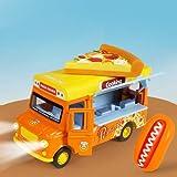 Lihgfw for Bambini di Simulazione del Gelato di Musica dell'automobile Fast Food Auto Ragazza in Lega Auto Giocattolo Suit Vari Tipi di Auto del Ragazzo sopra i 3 Anni (Color : Orange Pizza)