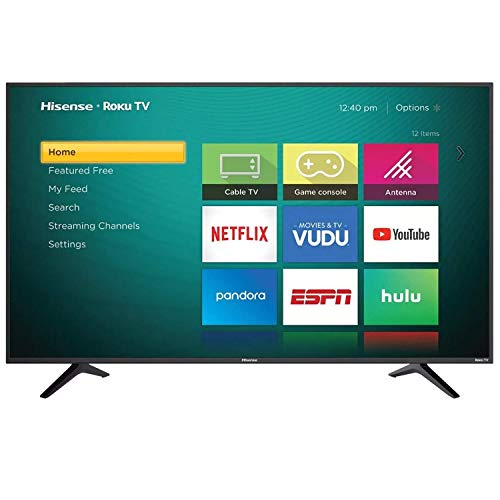 "Hisense 65"" Smart Roku TV 4K Televisor Ultra HD Pantalla LED TV con HDR WiFi Netflix YouTube Amazon…"