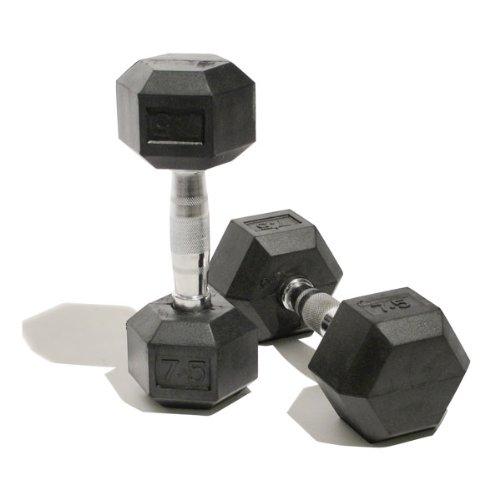 Bodymax Hex korte halters voor volwassenen, 2 x 5 kg