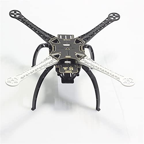 VIKEP Kit Cornice ad Aria Multi-rotore da 500 mm S500 w/Ingranaggio di atterraggio for FPV.Quadcopter Gopro Gimbal F450 (Color : White Black Each 2)