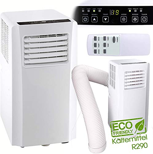 Bakaji Climatizzatore da Terra 7000 BTU Condizionatore Classe Energetica A Gas Risparmio Energetico 3in1 Pompa di Calore con Telecomando
