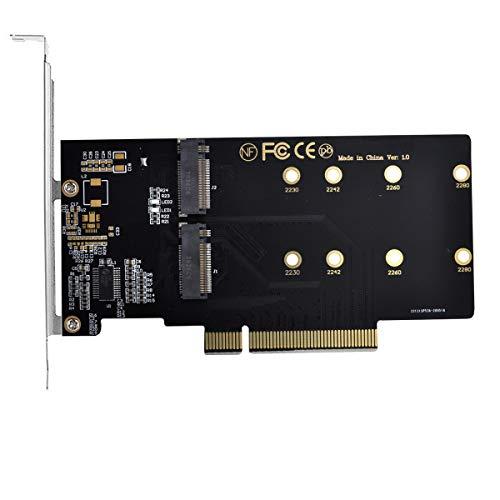 Xiwai Dual 2X NVME M.2 AHCI auf PCIE Express 3.0 Gen3 X8 X16 Raid Card VROC Raid0 Hyper Adapter