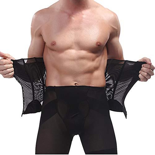 QitunC Herren Bauchweggürtel Abnehmen Slim Body Shaper Bauch Gürtel Taille Unterstützung Schwarz XL