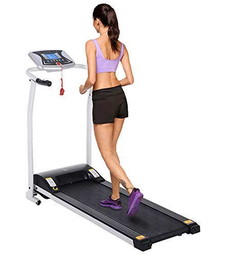 Flyerstoy Folding Electric Treadmill Exercise Equipment Walking Running Machine with...