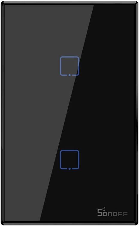 808 opinioni per Interruttore luce Intelligente, SONOFF Touch T3 2Gang WiFi Interruttore a Parete