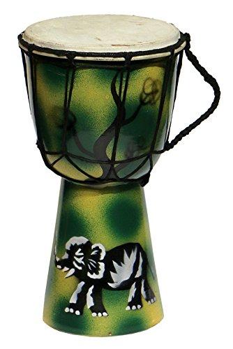25 cm Kinder Djembe Bongo AIR BRUSH ELEFANT Afrika Style Carving Trommel 20