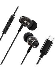 USB C-hörlurar med mikrofon, Lively Life In-Ear Typ-C brusisolerande stereo bas trådbundna hörlurar med volymkontroll kompatibel med Google Pixel 3/2, OnePlus 6T,Samsung S8+, HTC