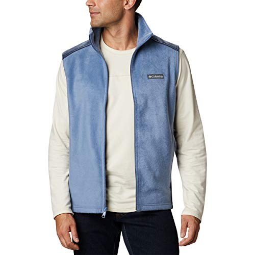Columbia Men's Steens Mountain Vest, Bluestone/Collegiate Navy, XX-Large