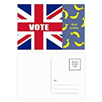 総選挙のための英国の英国国旗の票 バナナのポストカードセットサンクスカード郵送側20個