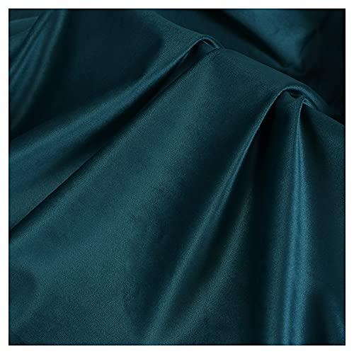 ZSYGFS 150 Cm De Ancho Tela De Terciopelo por Metros para Tapizar Disfraz Decoracin del Hogar Cortinas Tapicera Vestido Sillas Vendido por Metro(Color:Azul Verdoso Oscuro)