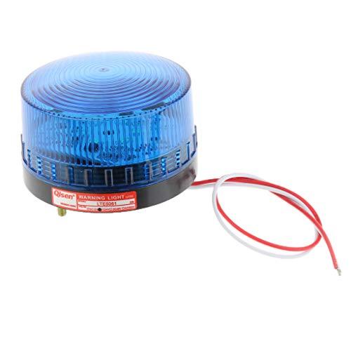 Homyl 24V LED Rouge Clignotant Lumières D'alarme - Bleu 24 V