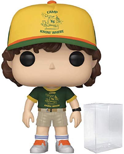 Funko Stranger Things - Dustin at Camp Pop! Vinyl Figure (Includes Compatible Pop Box Protector Case)