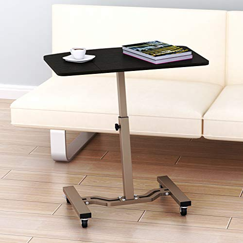 SHW Height Adjustable Mobile Laptop Stand Desk Rolling Cart, Height Adjustable from 28'' to 33''