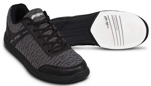 EMAX KR Strikeforce Flyer - Zapatillas de bolera para hombre y mujer, para diestros y zurdos, en 5 colores, tallas 38-48, con desodorante para zapatos Titania Foot Care, Mesh Schwarz, US 8,5 (41)