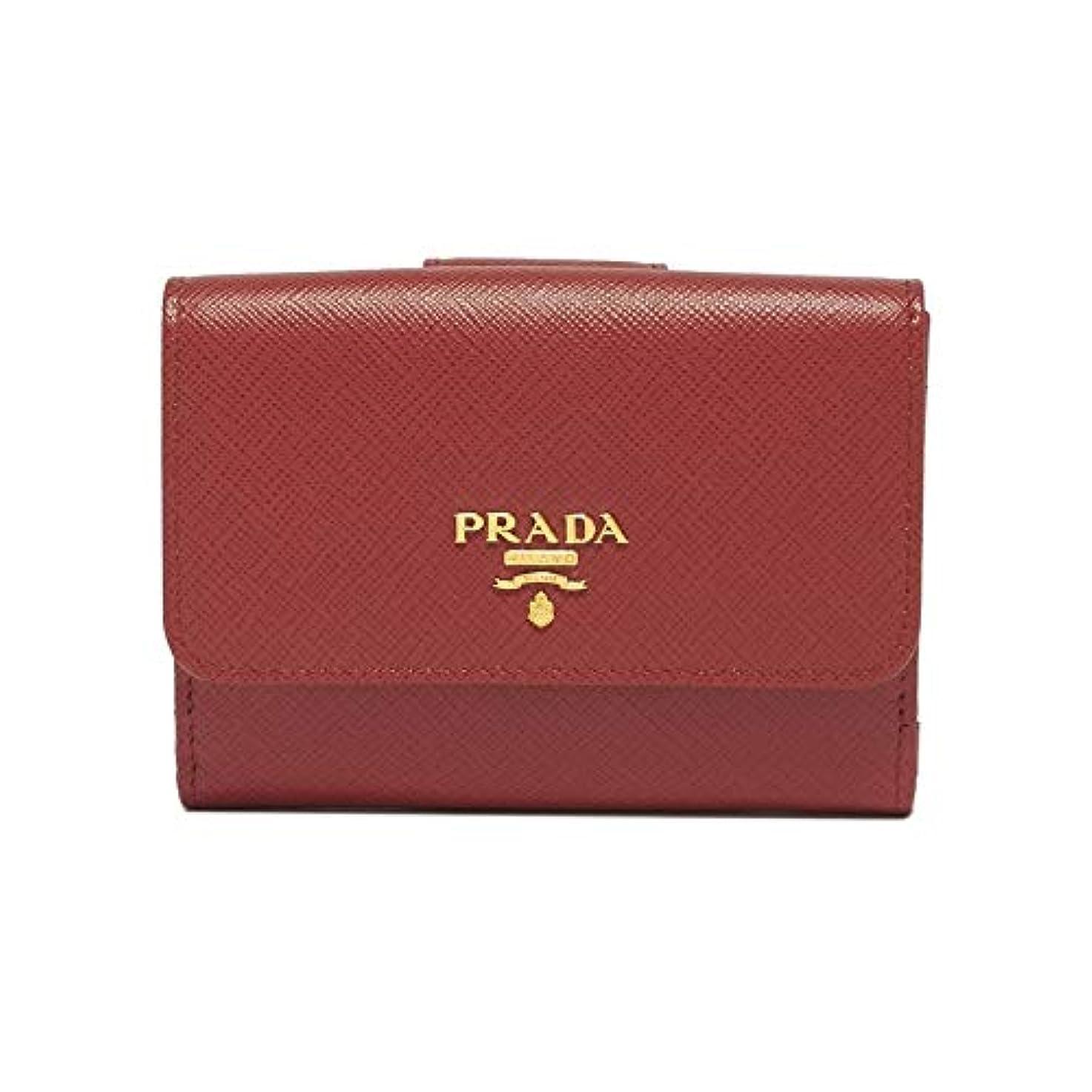 週末ケイ素現実的(プラダ) PRADA 二つ折財布 #1MH523 QWA F068Z 並行輸入品