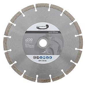 PRODIAMANT Disco de corte de diamante, 230 x 22,2 mm, 10 mm, segmento profesional con alta concentración de diamante, hormigón, piedra, ladrillo, universal, 230 mm, para corte en seco y húmedo