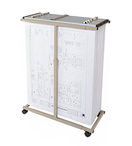 Brookside Design MVPC Heavy Duty Vertical Blueprint Storage Mobile Plan Center