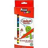 Fixo Colores Blandas, 100% No Tóxico, Cuerpo Triangular, Other, Multicolor, 12...