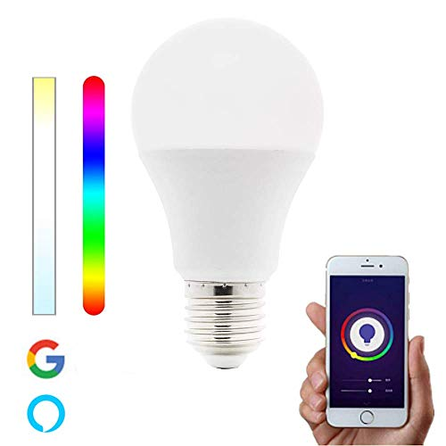Bombilla Inteligente WiFi LED E27 RGBW Multicolor Regulable compatible con Alexa, Google Home y Smart Life 7W – Smartfy (1 Unidad)