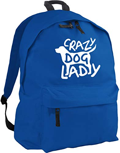 HippoWarehouse Crazy Dog Lady Backpack ruck Sack Dimensions: 31 x 42 x 21 cm Capacity: 18 litres