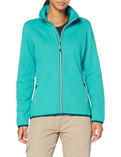 CMP Damen Pile jacquad Knit tech Fleecejacke, Baltic, 40
