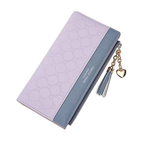 Portafoglio da donna,JOSEKO portafoglio lungo nappa Portafoglio in pelle PU Portafoglio sottile multi-slot per donna