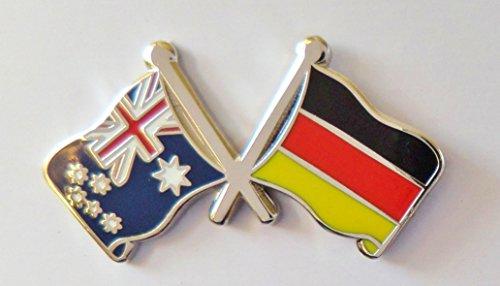 1000 Flags Australien Flagge & Deutschland Flagge Freundschaft Höflichkeit Pin Badge